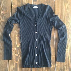 Vince button down cardigan Med dark black